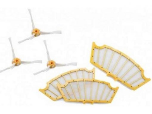 Pack de 3 Filtros & 3 Cepillos Laterales Serie 500